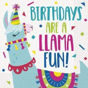 Llama Party Napkins