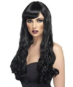 Long Curly Wig Black