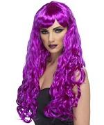 Long Curly Wig Purple
