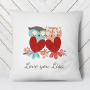 Personalise Love Owl Cushion