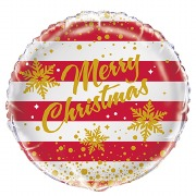 Striped Christmas Foil Balloon