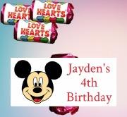 8pk Mickey Mouse Lovehearts
