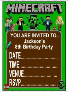 Personalised Minecraft Invites