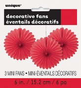 Mini Red Fan Decorations