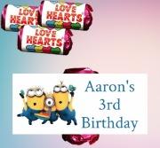 8Pk Minions Loveheart Sweets