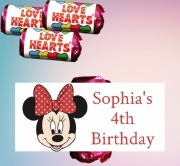 8PK Minnie Mouse Lovehearts