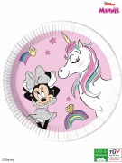 Minnie Mouse Unicorn Plates