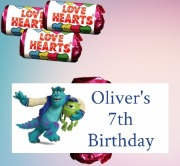 8PK Monsters Inc Lovehearts