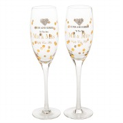 Mr & Mrs Champagne Glasses