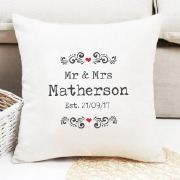 Mr & Mrs Editable Cushion