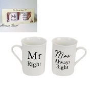 Mr And Mrs Set of 2 Mugs