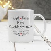 Mr And Mrs Editable Mug