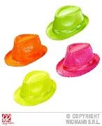 Neon Fedora Hat Pink