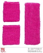Neon Pink Sweat Bands