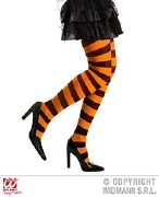 Orange and Black Tights
