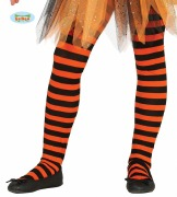 Orange Kids Striped Tights