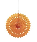 Orange Paper Fan