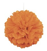 Orange PuffBall Decoration