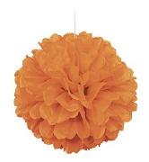 Orange PuffBall Decoration