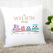 Owl Family Tree Cushion