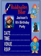 Paddington Bear Invites