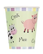 Pastel Farm Party Cups