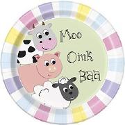 Pastel Farm Party Plates