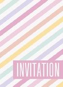 Pastel Stripes Invitations