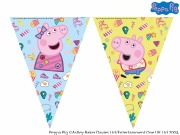 Peppa Pig Messy Flag Banner