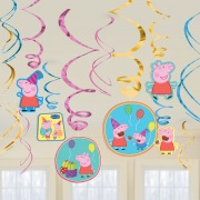 Peppa Pig Swirl Decorations