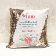 Personalise Mum Sequin Cushion