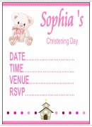 Christening Girl Invitations