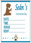 Communion Boy Invitations