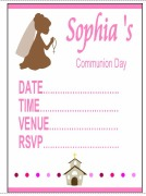Communion Girl Invitations