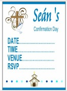 Confirmation Boy Invitations