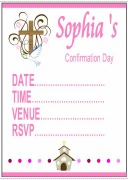 Confirmation Girl Invitations