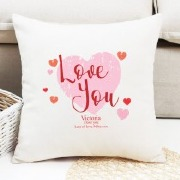 Personalise Love You Cushion