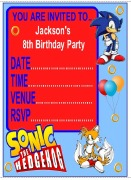 Personalised Sonic Invites
