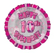 Pink 10th Birthday Balloon