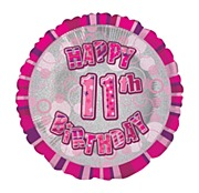 Pink 11th Birthday Balloon