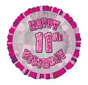Pink 11th Birthday Balloon