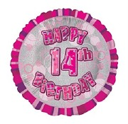 Pink 14th Birthday Balloon