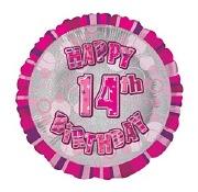 Pink 14th Birthday Balloon