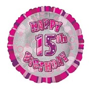 Pink 15th Birthday Balloon