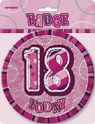 Pink 18th Birthday Badge