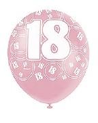 Pink 18th Birthday Balloons