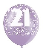 Pink 21st Birthday Balloons