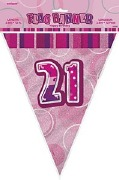 Pink 21st Birthday Bunting