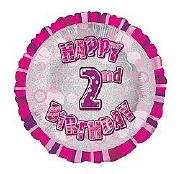 Pink 2nd Birthday Balloon