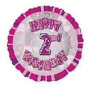 Pink 2nd Birthday Balloon